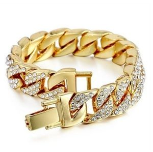 Other - 18k gold plated ICED OUT MIAMI cuban link chain